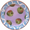 Fruity Loop/Green Apple - Rimmed Dinner Plate