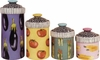 Striped Veggie - Canister Set of 4