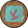 Very Veggie/Chili Pepper - Rimmed Dinner Plate