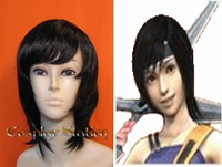 Final Fantasy VII Yuffie Kisaragi Black Cosplay Wig