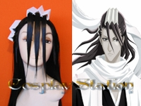 Bleach 6 Division Kuchiki Byakuya Commission Cosplay Wig