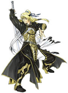 Suikoden V Queen's Knight Kyle Cosplay Costume_LATEST DESIGN