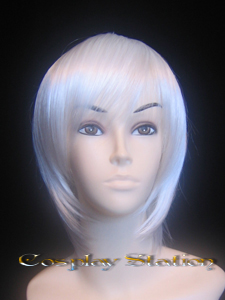 Silky White Cosplay Wig