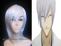 Bleach 3rd Division Ichimaru Gin Cosplay Wig_New Design!