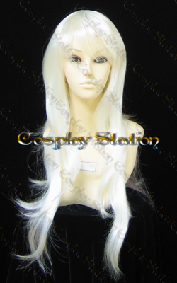 Wavy White Cosplay Wig
