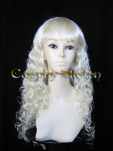 23 Inches Long Curly Blonde Cosplay Wig
