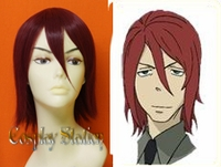 Soul Eater Spirit Albarn Custom Made Red Cosplay Wig