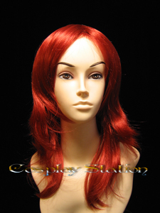 18 Inches Wavy Red Cosplay Wig