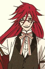 "Black Butler Kuroshitsuji Cosplay Grell Sutcliff  Custom Made Cosplay Wig_<font color=""red"">New Version</font>"
