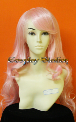 33 Inches Long Wavy Pink Cosplay Wig