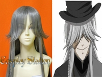 Black Butler Kuroshitsuji Undertaker Custom Made Silver Cosplay Wig