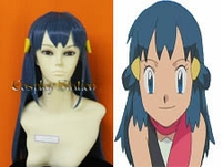 Pokemon Cosplay Dawn Blue Custom Made Cosplay Wig