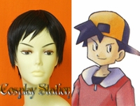 Pokemon Crystal Trainer Custom Made Cosplay Wig