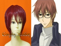 07 Ghost Castor San Ruby Red Cosplay Wig