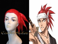 Bleach 6th Division Abarai Renji Red Cosplay Wig