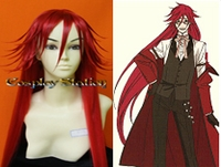 Black Butler Kuroshitsuji Cosplay Grell Sutcliff Custom Made Red Cosplay Wig