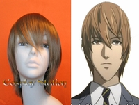 Death Note Light Yagami Kira Brown Cosplay Wig