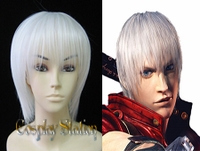"Devil May Cry Cosplay Dante White Cosplay Wig_<font color=""red"">New Arrival!</font>"