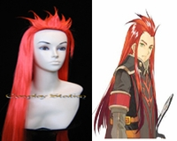 Tales of the Abyss Asch the Bloody Red Prestyled Cosplay Wig