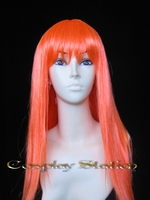 28 Inches Long Orange Cosplay Wig