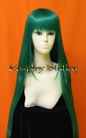 40 Inches Long Dark Green Cosplay Wig