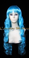 30 Inches Long Wavy Blue Wig