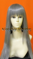 40 Inches Silver Long Bangs Cosplay Wig