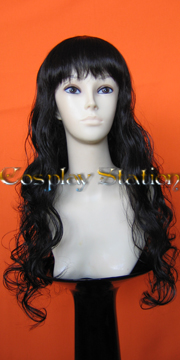 28 Inches Black Wavy Cosplay Wig