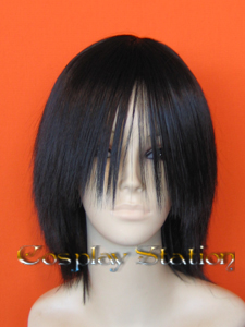 Medium Long Bangs Black Cosplay Wig