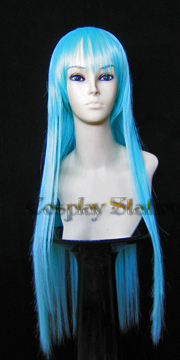 32 Inches Long Blue Cosplay Wig