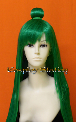 Sailor Moon SAILOR PLUTO Custom Made Green Cosplay Wig