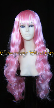 30 Inches Long Wavy Pink Cosplay Wig
