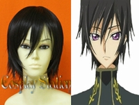 "Code Geass Zero Lelouch Lamperouge Cosplay Wig_<font color=""red"">New Version</font>"