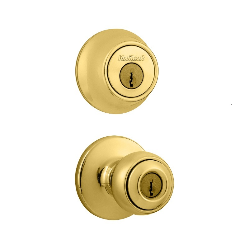 Kwikset Polo Knob And Double Cylinder Deadbolt Combo Pack Keyed