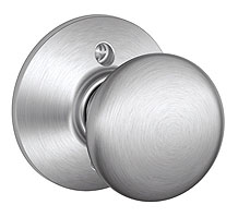 Schlage / Plymouth Knob / <U>Half Dummy</U> / Satin Chrome / F170PLY 626