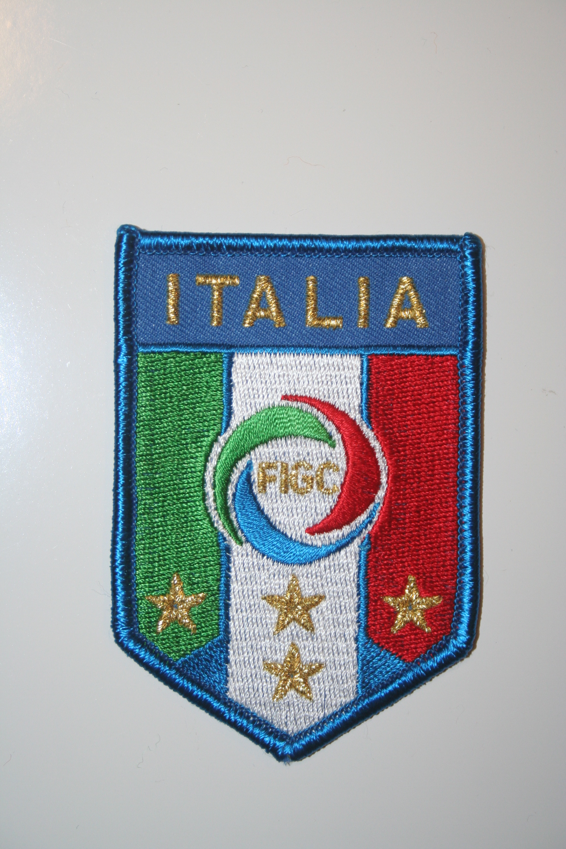348df38e4 ITALIA FIFA WORLD CUP SOCCER OFFICIAL 4 STAR LOGO LARGE CREST PATCH BADGE  ... NEW