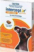 Interceptor (Brown) for Very Small Dog 1 - 4kg (2 - 9 lbs) 6 Month Pack