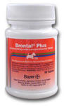 Drontal Plus for Small Dogs ( 2 to 6.6 lbs ) 4 Tablet Pack