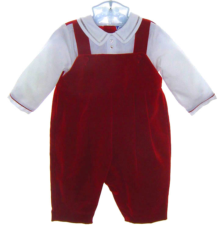 Carriage Boutiques,Carriage Boutique,red velvet baby outfit,baby boy ...