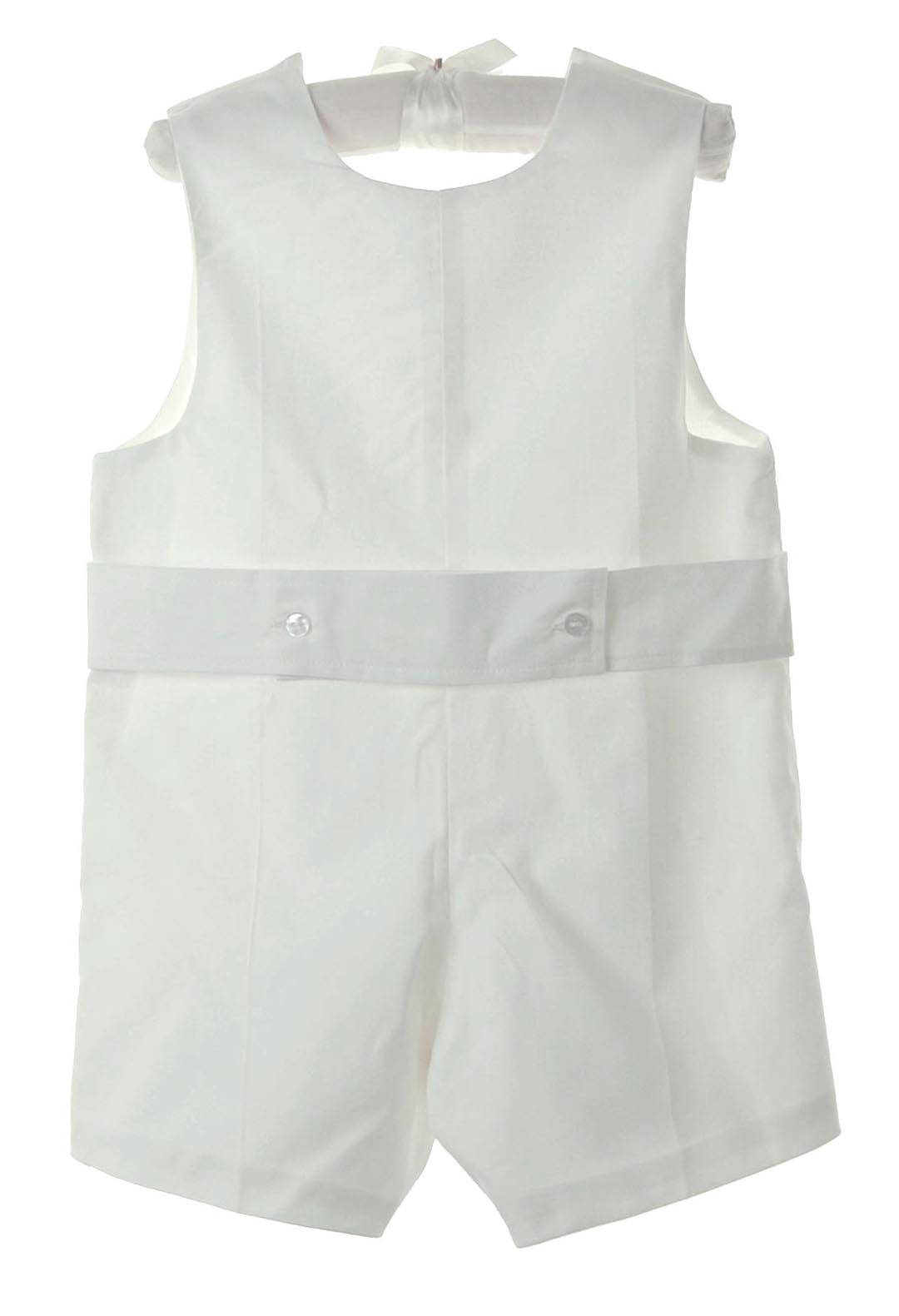 3a97c76a88 NEW Lavender Blue White Cotton Shortall with Back Belt