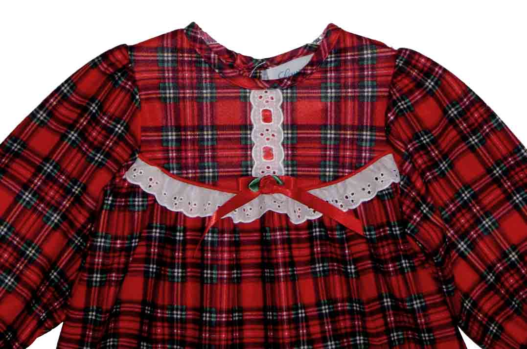 Christmas nightgown,holiday nightgown,red plaid nightgown,baby ...