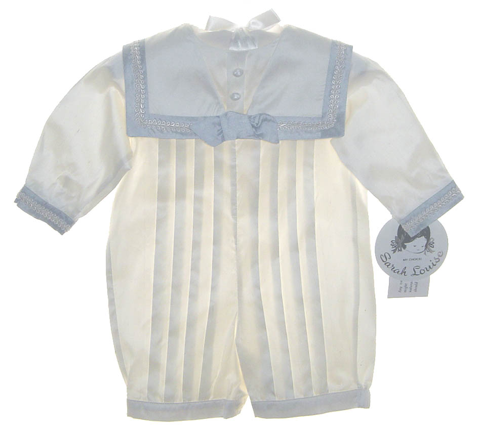 38080c7d6 NEW Sarah Louise Ivory Silk Sailor Romper with Short Sleeves or Long ...