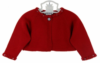 Sarah Louise red bolero sweater,red bolero sweater for baby girls ...
