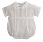 NEW Feltman Brothers White Romper with Scalloped Embroidery