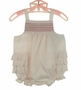 NEW Chabre Vintage Style Pale Pink Smocked Sunsuit with Ruffled Bottom