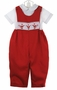 "<img src=""https://p11.secure.hostingprod.com/@grammies-attic.com/ssl/images/blue-sold-1.gif""> NEW Rosalina Red Smocked Longall Set with Santa Embroidery"