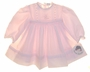 "<img src=""https://p11.secure.hostingprod.com/@grammies-attic.com/ssl/images/blue-sold-1.gif""> NEW Sarah Louise Pale Pink Smocked Dress with Pintucks and Embroidery"