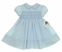 "<img src=""http://site.grammies-attic.com/images/blue-sold-1.gif""> NEW Sarah Louise Blue Smocked Dress with Eyelet Embroidered Collar"