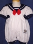 "<img src=""https://p11.secure.hostingprod.com/@grammies-attic.com/ssl/images/blue-sold-1.gif""> NEW Glynne Percy White Sailor Bubble with Red Bow for Baby Girls"