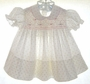 "<img src=""https://p11.secure.hostingprod.com/@grammies-attic.com/ssl/images/blue-sold-1.gif""> Feltman Brothers Cream Smocked Dress with Pink Rosebuds"